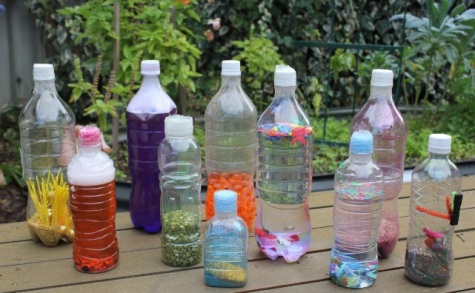 musical plastic bottles